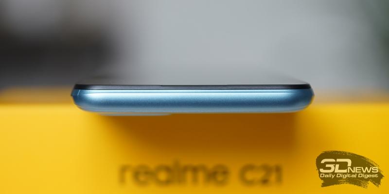 realme C21, верхняя грань без функциональных элементов