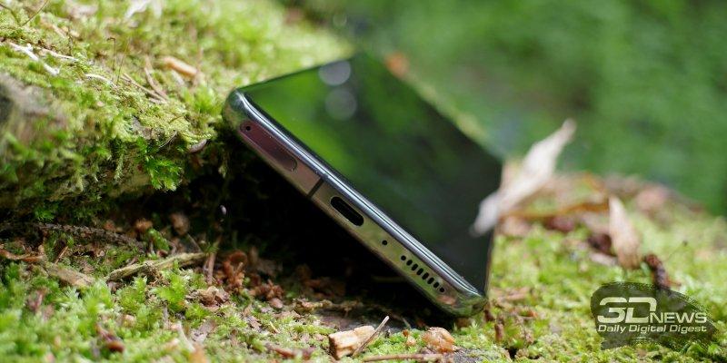 Xiaomi Mi 11, нижняя грань: слот для SIM-карт, порт USB Type-C, микрофон, динамик